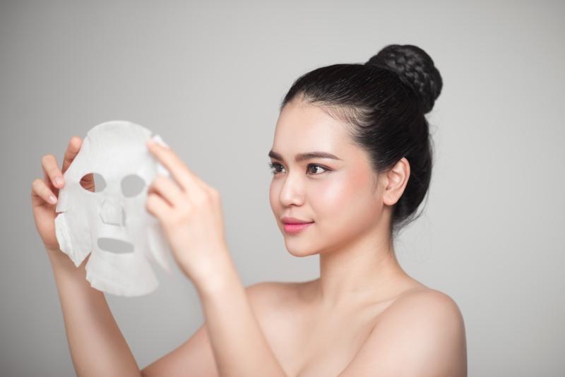 Tuchmasken in der asiatischen Kosmetik