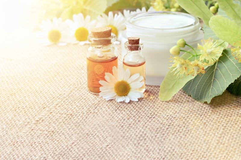 Bio-Kosmetik mit Kamillenextrakt