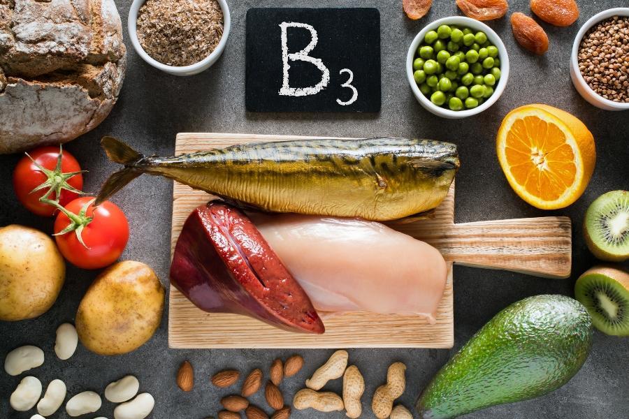 Lebensmittel mit hohem Niacin-Gehalt (Vitamin B3)