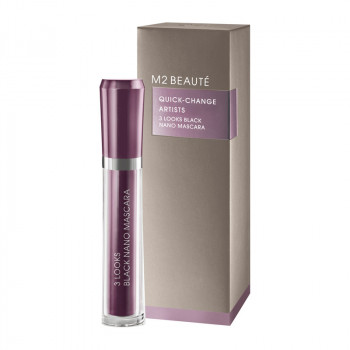 M2 Beaute 3 Looks Black Nano Mascara, 6ml