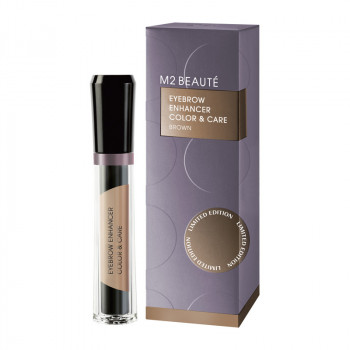 M2 Beaute, Eyebrow Enhancer Color and Care brown, 6ml