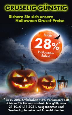Bis zu 28% Halloween-Rabatt!