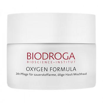 BIODROGA  Oxygen Formula  24-h-Pflege für ölige/Mischhaut,