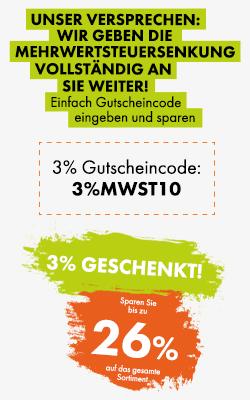 3% MwSt. geschenkt!