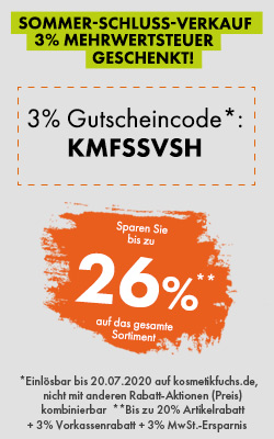 3% Mehrwertsteuer geschenkt!