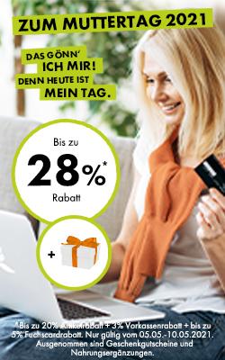 Bis zu 28% Rabatt zum Muttertag!