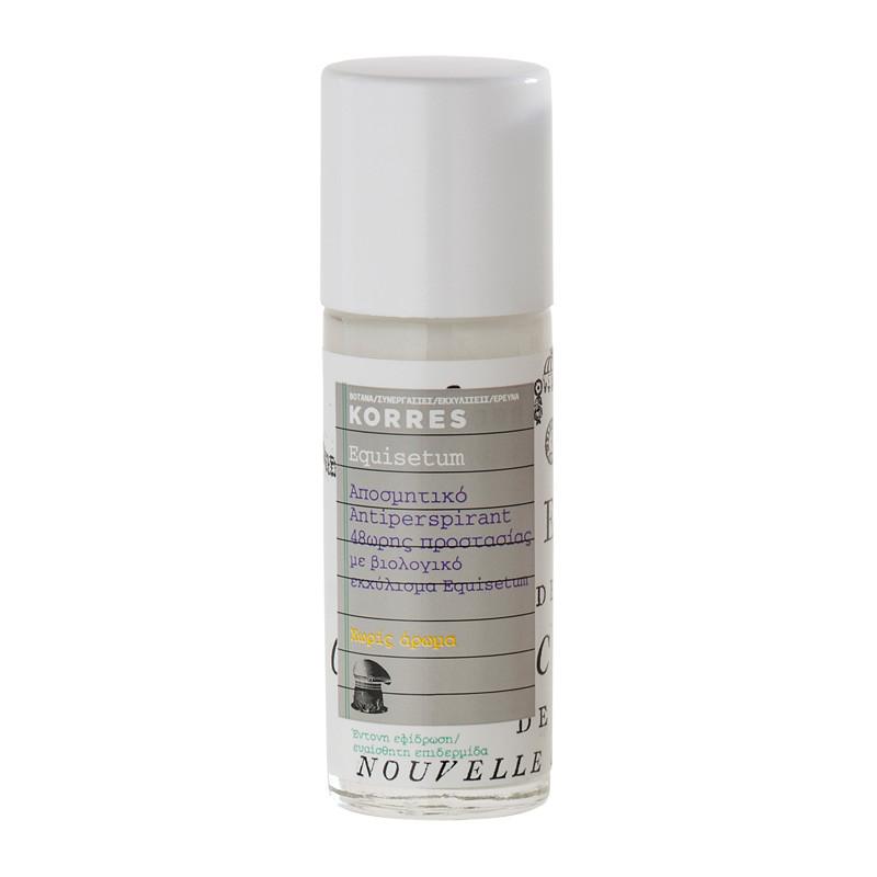 KORRES Antiperspirant 48h Deodorant, parfümfrei, 30ml