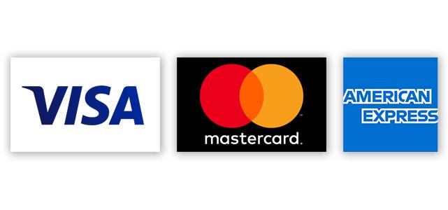 Visa MasterCard AmericanExpress